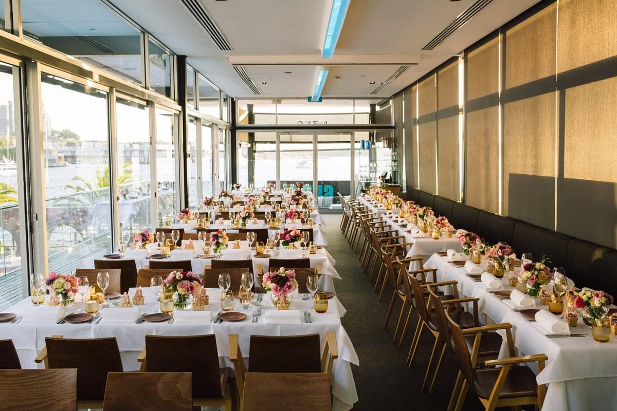 Lavender Bay & Aqua Dining Wedding