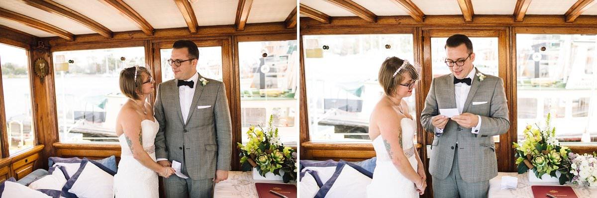 Wedding on Yacht on Sydney Harbour